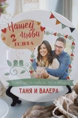 Тарелка декоративная с вашим текстом Годовщина