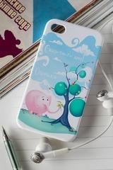 Чехол для iphone 4/4S с вашим текстом Слон и подарки