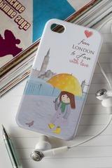 Чехол для iphone 4/4S с вашим текстом «С любовью»