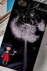 Чехол для iphone 4/4S с вашим текстом Цветы