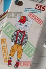 Чехол для iphone 4/4S с вашим текстом Стильный котёнок