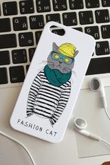 Чехол для iphone 5/5S с вашим текстом Кот с шарфом