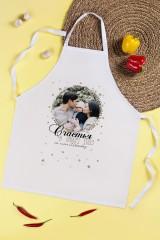 Фартук кухонный с нанесением текста Новогодний фотоподарок