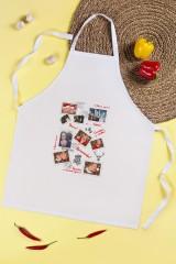 Фартук кухонный с нанесением текста Новогоднее письмо
