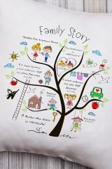 Подушка декоративная с Вашим именем Family Story