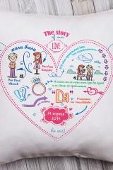 Подушка декоративная с Вашим именем История одной любви