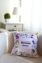 Подушка декоративная с Вашим именем Скетчбук
