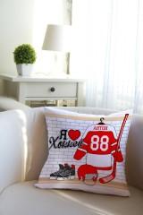Подушка декоративная с Вашим именем Хоккей