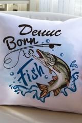 Подушка декоративная с Вашим именем Born to fish