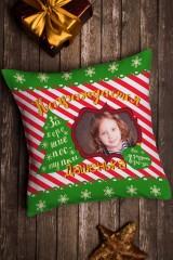 Подушка декоративная с Вашим именем Candy cane