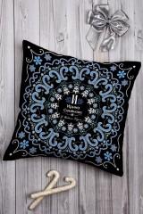 Подушка декоративная с Вашим именем «Точечная роспись»