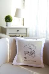 Подушка декоративная с Вашим именем «Happy flowers»