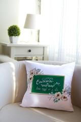Подушка декоративная с Вашим именем «Школьная доска»