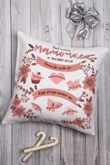 Подушка декоративная с Вашим именем Мамочке