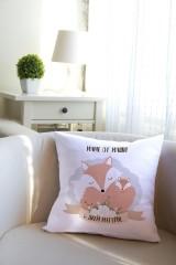 Подушка декоративная с Вашим именем «Лисичка»