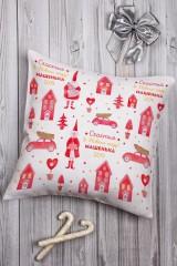 Подушка декоративная с Вашим именем «Новогодние игрушки»