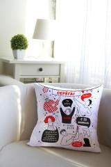Подушка декоративная с Вашим именем «Дружеское поздравление»