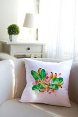 Подушка декоративная с Вашим именем Фруктовый букет