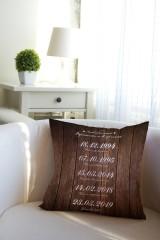 Подушка декоративная с Вашим именем «Наши даты»