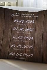 Подушка декоративная с Вашим именем Наши даты