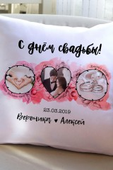 Подушка декоративная с Вашим именем Свадебные фото