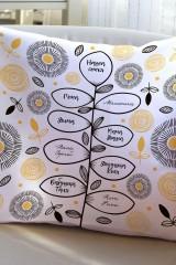 Подушка декоративная с Вашим именем Семейная ветвь