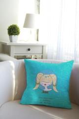 Подушка декоративная с Вашим именем Знаки зодиака (блондинка)