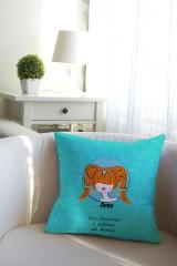 Подушка декоративная с Вашим именем «Знаки зодиака (рыжая)»