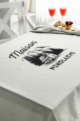 Скатерть с Вашим текстом «Maison»