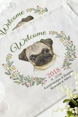 Набор салфеток с Вашим текстом Год собаки