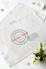 Набор салфеток с Вашим текстом «Печать Деда Мороза»