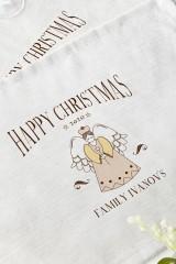 Набор салфеток с Вашим текстом Рождественский ангел