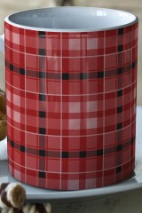 Кружка Красная шотландка