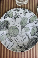 Тарелка декоративная Азбука вегана