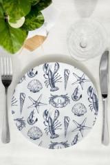 Тарелка декоративная Морские мотивы