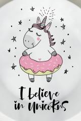 Тарелка декоративная I believe in unicorns
