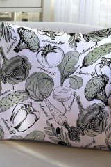 Подушка декоративная Азбука вегана