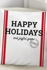 Подушка декоративная Happy holidays