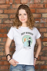 Футболка женская с вашим текстом Just Married