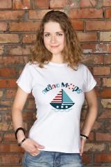 Футболка женская с вашим текстом Люблю море