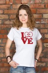 Футболка женская с вашим текстом LOVE
