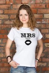 Футболка женская с вашим текстом Mr & Mrs Smith