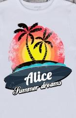 Футболка женская с вашим текстом Summer dreams