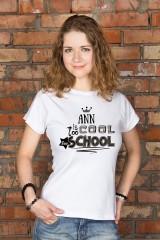Футболка женская с вашим текстом Too cool for school