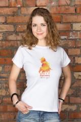 Футболка женская с вашим текстом Огненный петух