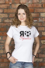 Футболка женская I love football