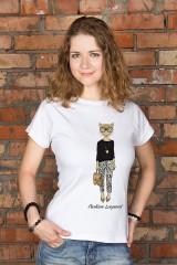 Футболка женская с вашим текстом «Леопард»