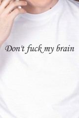 Футболка мужская Dont fuck my brain