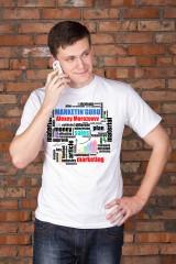 Футболка мужская с вашим текстом «Подарок маркетологу»