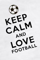 Футболка женская Keep calm and love football